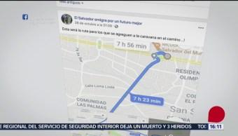 Caravana salvadoreña inicia convocatoria en redes sociales