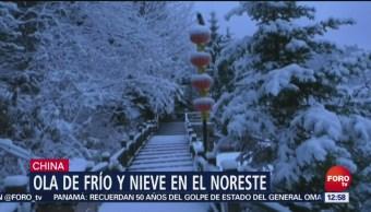 China tiene las primeras nevadas de la temporada