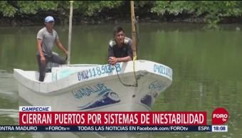Cierran puertos a la navegación en Campeche