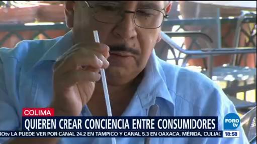 Colima dice no a los popotes