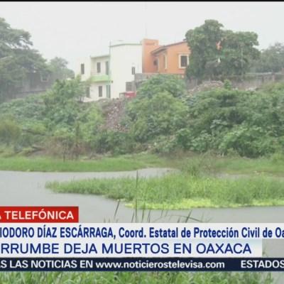 Confirman seis muertos por desgajamiento de cerro en Oaxaca