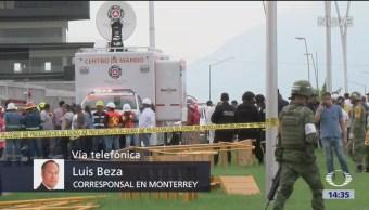 Continúa búsqueda de persona tras derrumbe en Monterrey