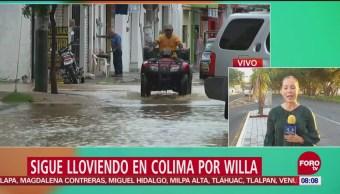 Continúan lluvias en Colima por el huracán 'Willa'