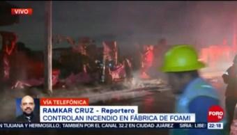 Controlan Fuerte Incendio Fábrica de Foami Xochimilco