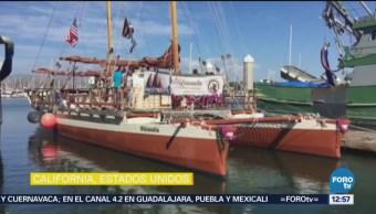 Crean canoa que funciona con energía eólica y solar