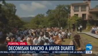 Decomisan rancho a Javier Duarte
