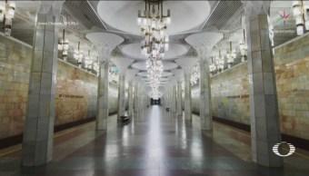 Fotografías Dentro Hermoso Metro Tashkent Refugio Nuclear