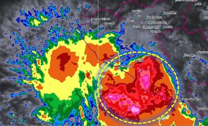 Se forma depresión tropical 22-E en costas de Michoacán