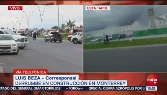 Derrumbe en Monterrey deja tres muertos