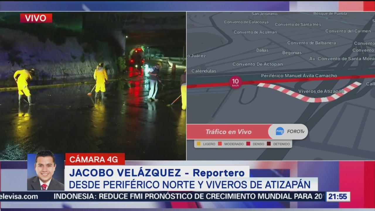 Desazolvan Inundación Tlalnepantla Edomex Lluvias Encharcamientos