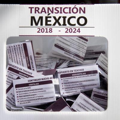 Desorden en conteo y resguardo de boletas de consulta por nuevo aeropuerto de México
