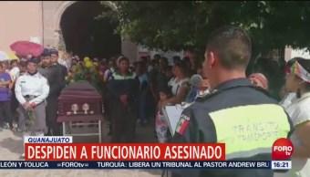 Despiden Funcionario Asesinado Guanajuato