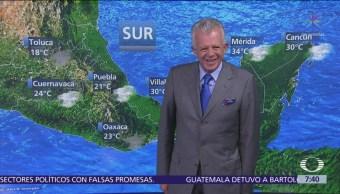 Lluvias en gran parte de México