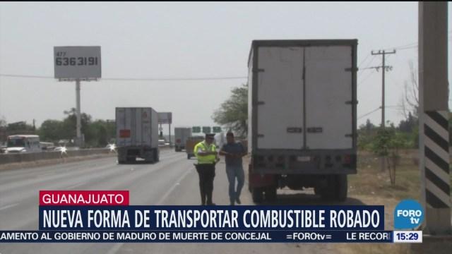 Detectan nueva forma de transportar combustible robado en Guanajuato