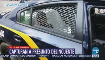 Detienen a un presunto delincuente en CDMX