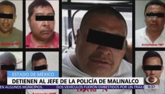 Detienen al director de la Policía Municipal de Malinalco