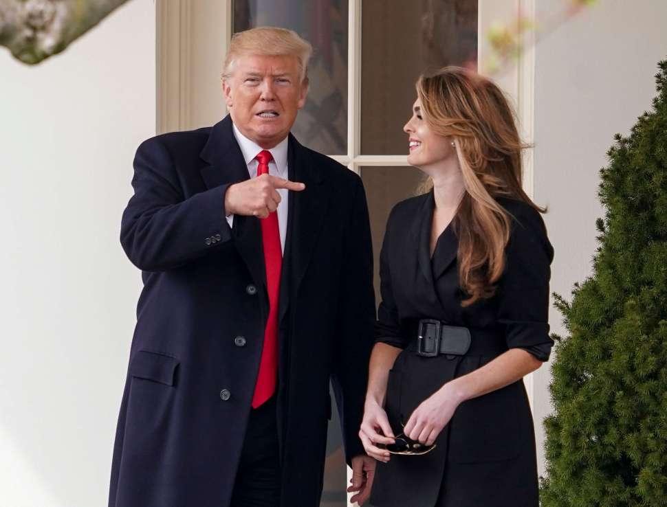 Hope Hicks salió de la Casa Blanca y ahora se une a FOX