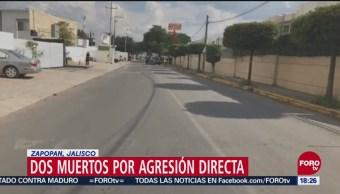 Dos muertos por balacera en Zapopan, Jalisco