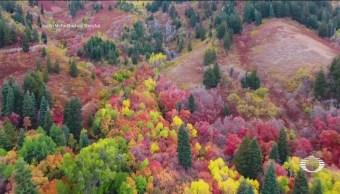 Dron Capta Impresionantes Imágenes Coloridas Montañas Utah