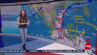 El clima del 18 de octubre a las 18:00, con Mayte Carranco