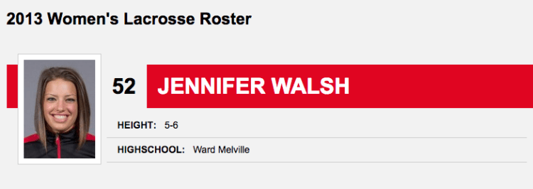 Walsh's record indicates that he graduated at Ward Melville High School in 2013.