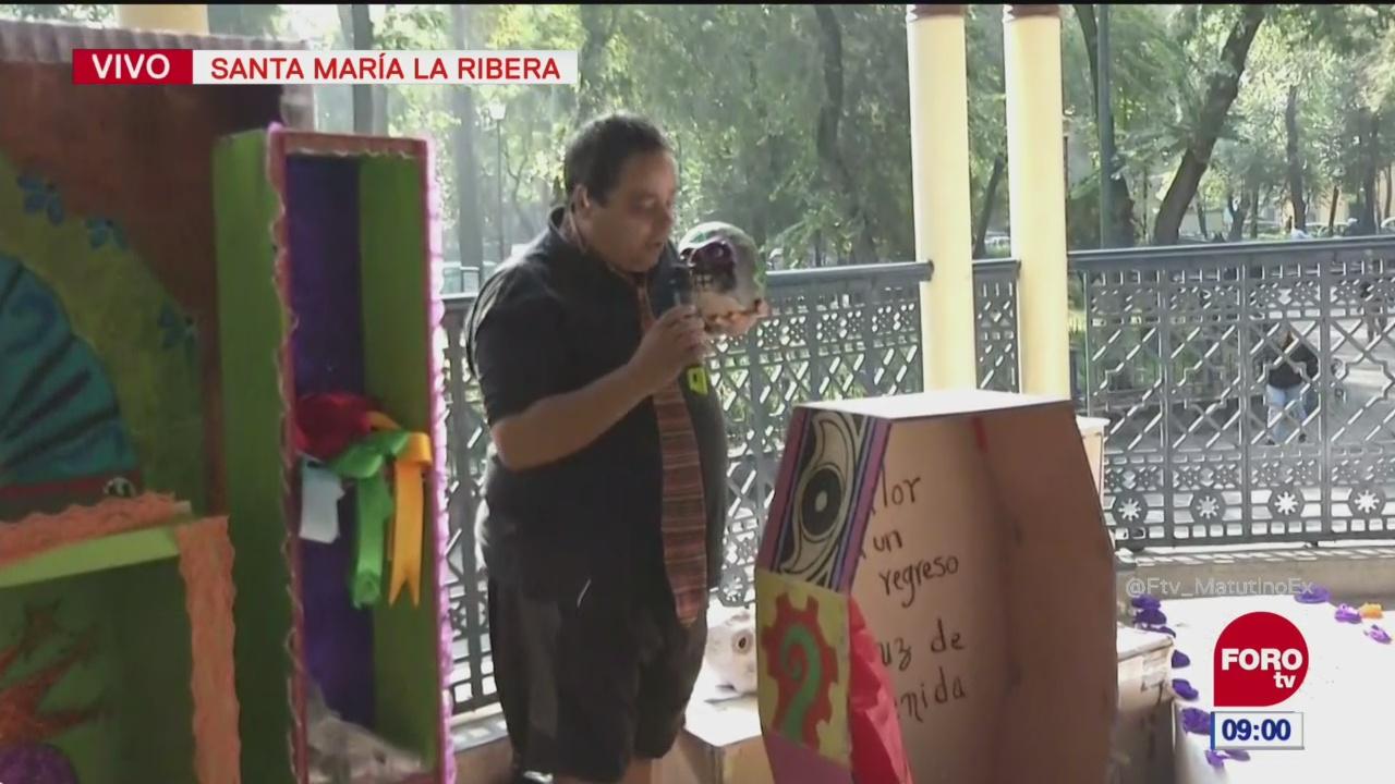 'El Reporñero' presenta ofrenda de 'Día de Muertos' de Santa María la Ribera