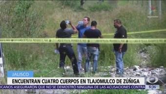 Encuentran cuatro cuerpos en Tlajomulco