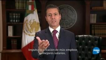 Enrique Peña Nieto destaca beneficios del USMCA