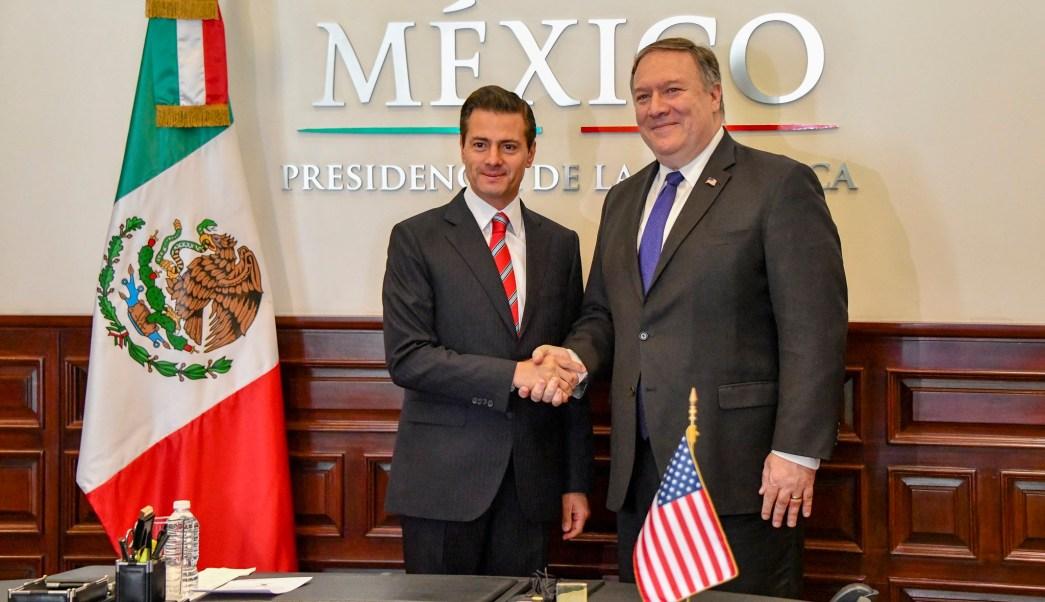Mike Pompeo se reúne con Enrique Peña Nieto en Los Pinos