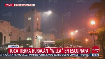 Entrada Huracán Willa Escuinapa Sinaloa México
