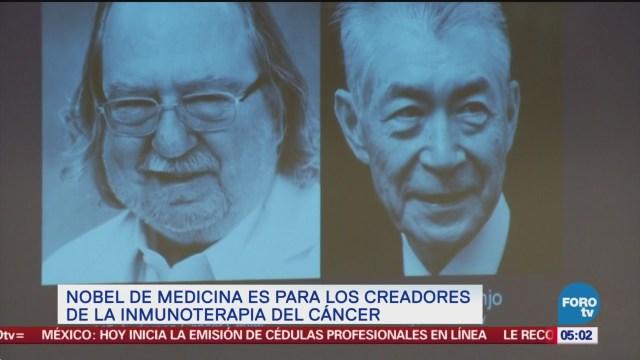 Estadounidense y japonés ganan Nobel de Medicina por estudio