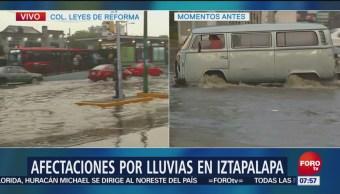 Inundaciones afectan Canal de Tezontle