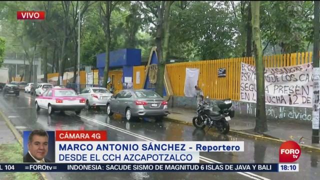 Estudiantes de CCH Azcapotzalco detienen a un presunto porro