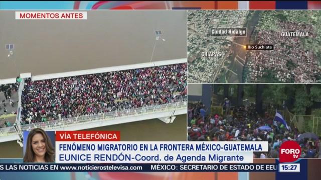 Eunice Rendón habla de la crisis migratoria en la frontera sur