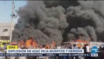 Explosión Azaz Deja Muertos Heridos