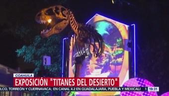 Exposición Titanes del Desierto Coahuila alameda Zaragoza, Saltillo, Coahuila