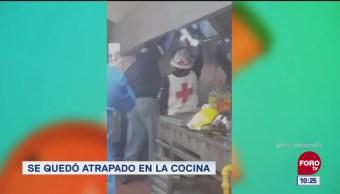 Extra Extra: Ladrón queda atrapado en cocina de restaurante