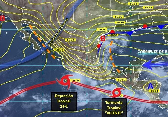 Tormenta tropical Willa apunta su trayectoria a costas del sur de Sinaloa