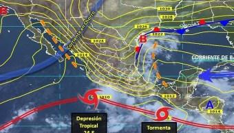 Se forma depresión tropical 24-E en México