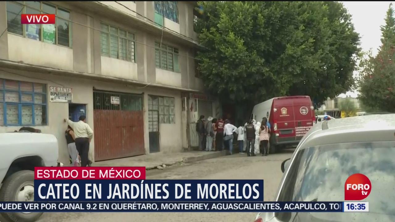 Fiscalía catea vivienda en Jardines de Morelos, Ecatepec