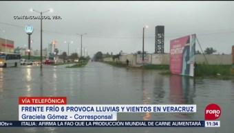 Frente frío provoca lluvias en Veracruz