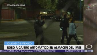 Grupo armado roba cajero automático en almacén del IMSS