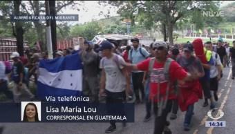 Guatemala recibe a migrantes procedentes de Honduras