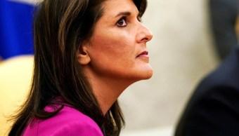 Nikki Haley renuncia como embajadora en la ONU