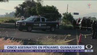 Hombres atacan a policías municipales en Pénjamo
