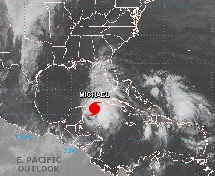 'Michael' se convierte en huracán categoría 1