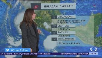 Huracán 'Willa' avanza sobre el Pacífico rumbo a Nayarit y Sinaloa