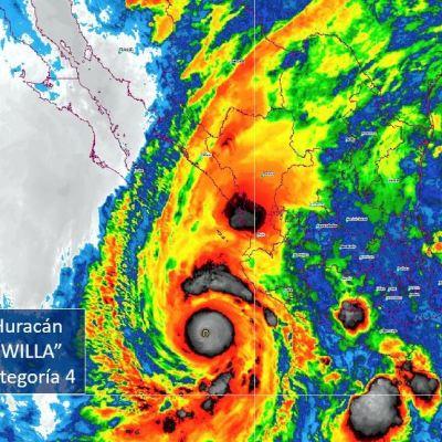 Suspenden clases en Puerto Vallarta por paso de huracán 'Willa'