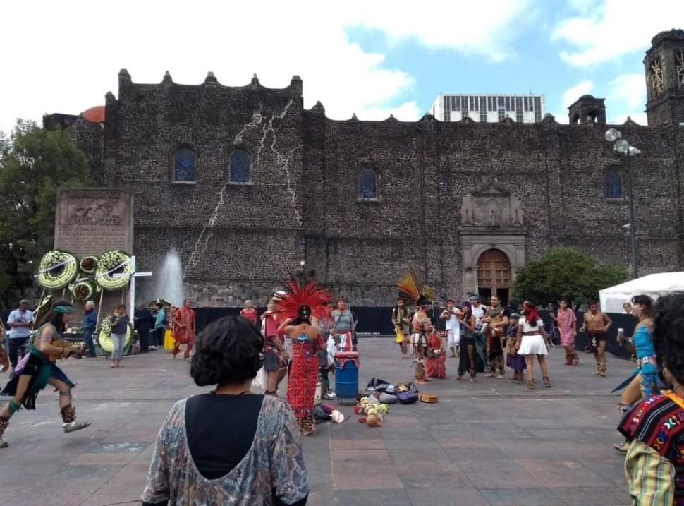 Conmemoran el movimiento estudiantil del 68 en Tlatelolco