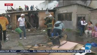 Incendio en mercado en Naucalpan